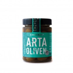 Grüne Arta Oliven - Konservolia - mit Kern